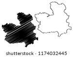 castilla la mancha  kingdom of... | Shutterstock .eps vector #1174032445