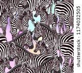 seamless pattern  background ... | Shutterstock .eps vector #1174032505
