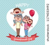happy grandparents day   Shutterstock .eps vector #1174033492