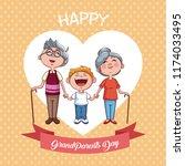 happy grandparents day   Shutterstock .eps vector #1174033495