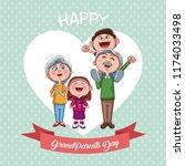 happy grandparents day   Shutterstock .eps vector #1174033498