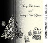 monochrome stylish christmas... | Shutterstock .eps vector #117403816