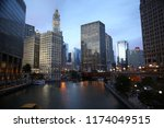 chicago downtown  illinois  usa ... | Shutterstock . vector #1174049515