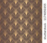 art deco pattern. seamless... | Shutterstock .eps vector #1174050355