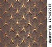 art deco pattern. seamless... | Shutterstock .eps vector #1174050358