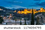 night view of the city of...   Shutterstock . vector #1174054795