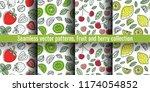 seamless pattern set. juicy...   Shutterstock .eps vector #1174054852