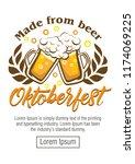 oktoberfest beer festival  ...   Shutterstock .eps vector #1174069225