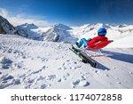 young happtyattractive skier...   Shutterstock . vector #1174072858