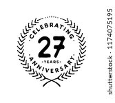 27 years design template. 27 th ... | Shutterstock .eps vector #1174075195