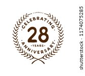 28 years design template. 28th... | Shutterstock .eps vector #1174075285