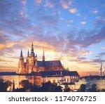 Close Up On Prague Castle At...