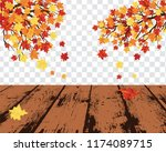 autumn  frame with falling ... | Shutterstock .eps vector #1174089715