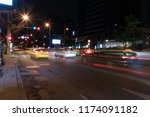night traffic at bangkok ... | Shutterstock . vector #1174091182
