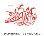 vector isolated set of red...   Shutterstock .eps vector #1174097212