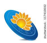 icon as blue sundial with... | Shutterstock .eps vector #117410032