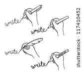 doodle hand writing | Shutterstock .eps vector #117410452