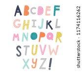 scandinavian vector alphabet...   Shutterstock .eps vector #1174116262