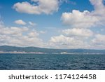 seascape with clouds. | Shutterstock . vector #1174124458