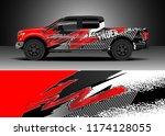 truck decal wrap design vector. ... | Shutterstock .eps vector #1174128055