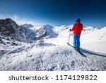 young happtya ttractive skier...   Shutterstock . vector #1174129822