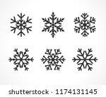 winter christmas frost vector... | Shutterstock .eps vector #1174131145