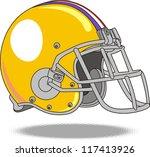 vector helmet american football