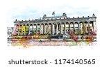 landmark with building view of... | Shutterstock .eps vector #1174140565