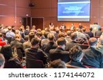 business conference and... | Shutterstock . vector #1174144072