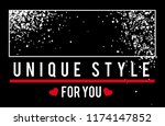 vector slogan unique style for... | Shutterstock .eps vector #1174147852