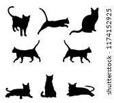 Stock vector cat silhouette vector 1174152925
