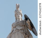 athena marble statue partial... | Shutterstock . vector #1174162378