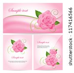 set of banners with roses.... | Shutterstock .eps vector #117416566
