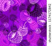 berry  raspberry  vector  fruit ...   Shutterstock .eps vector #1174172842