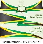 flag of jamaica  commonwealth... | Shutterstock .eps vector #1174175815
