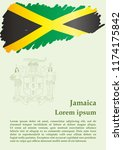 flag of jamaica  commonwealth... | Shutterstock .eps vector #1174175842