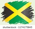 flag of jamaica  commonwealth... | Shutterstock .eps vector #1174175845