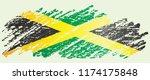 flag of jamaica  commonwealth... | Shutterstock .eps vector #1174175848