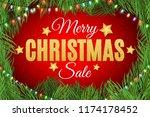 merry christmas. inscription... | Shutterstock .eps vector #1174178452