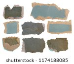 set old  torn paper isolated on ... | Shutterstock . vector #1174188085