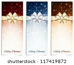 set of shiny christmas cards... | Shutterstock .eps vector #117419872