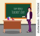happy teacher day | Shutterstock .eps vector #1174208368