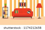 interior living room modern... | Shutterstock .eps vector #1174212658