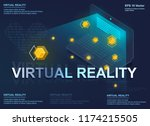 augmented reality concept... | Shutterstock .eps vector #1174215505