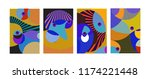 vector abstract colorful...   Shutterstock .eps vector #1174221448