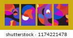 vector abstract colorful...   Shutterstock .eps vector #1174221478