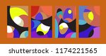 vector abstract colorful...   Shutterstock .eps vector #1174221565