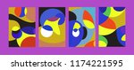 vector abstract colorful...   Shutterstock .eps vector #1174221595
