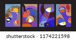 vector abstract colorful...   Shutterstock .eps vector #1174221598