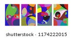 vector abstract colorful... | Shutterstock .eps vector #1174222015